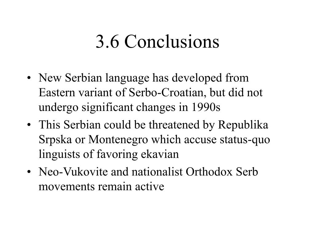 3.6 Conclusions