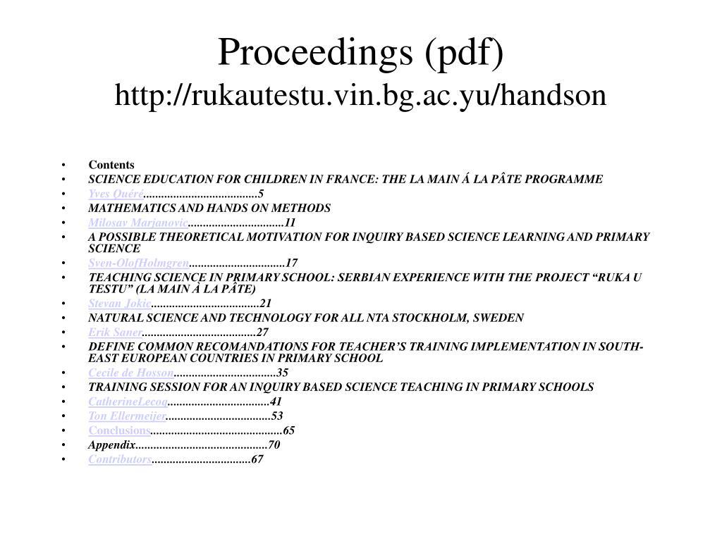 Proceedings (pdf)