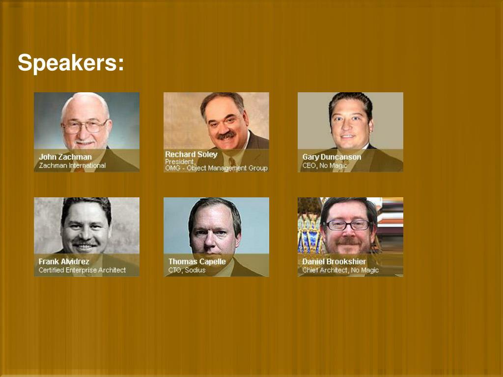 Speakers: