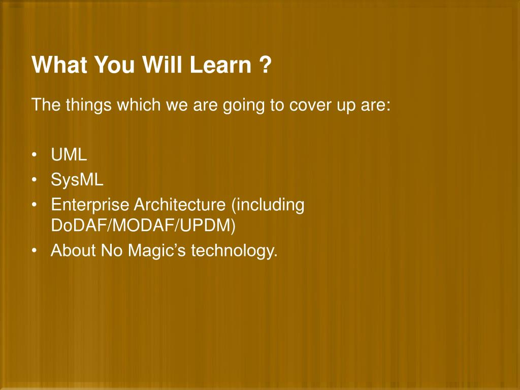 What You Will Learn ?