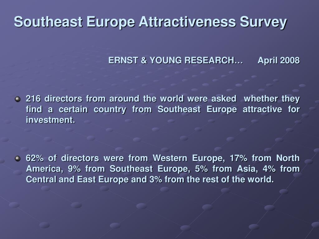 Southeast Europe Attractiveness Survey