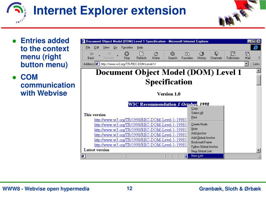 Internet Explorer extension