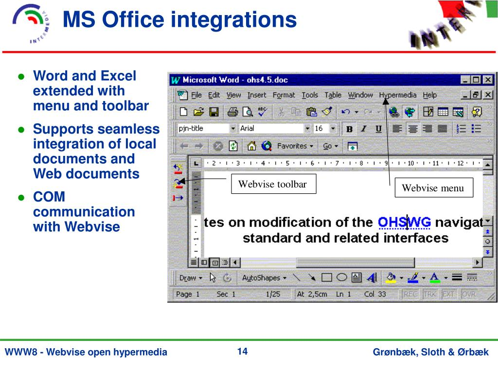 MS Office integrations