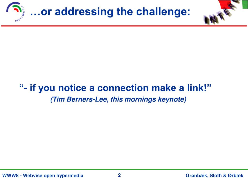 …or addressing the challenge: