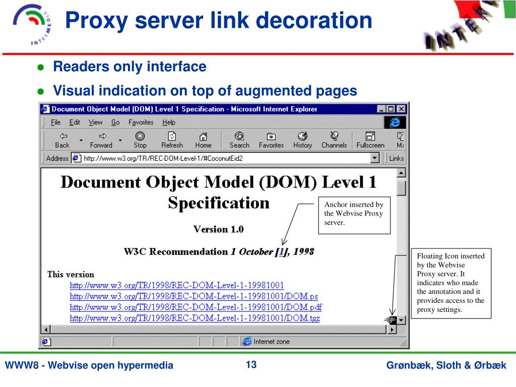 Proxy server link decoration