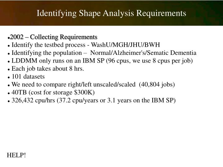 Identifying Shape Analysis Requirements