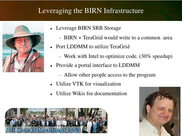 Leverage BIRN SRB Storage