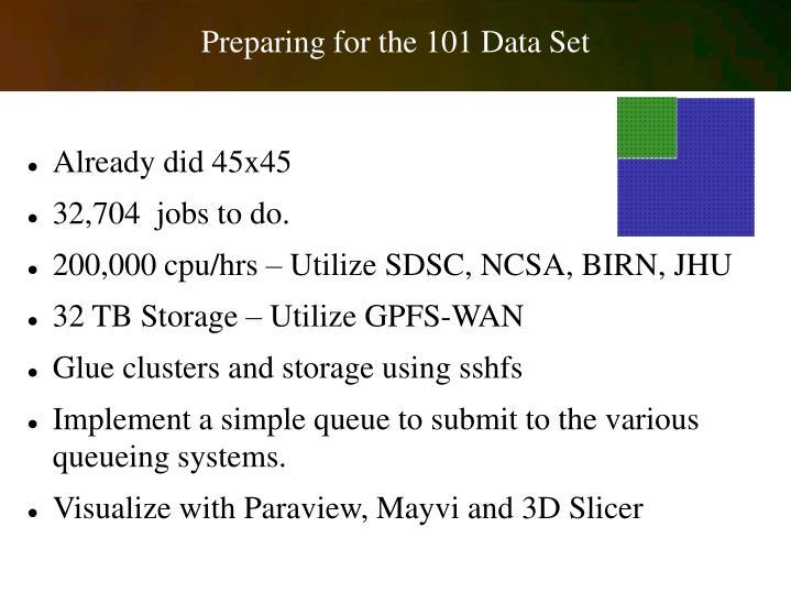Preparing for the 101 Data Set