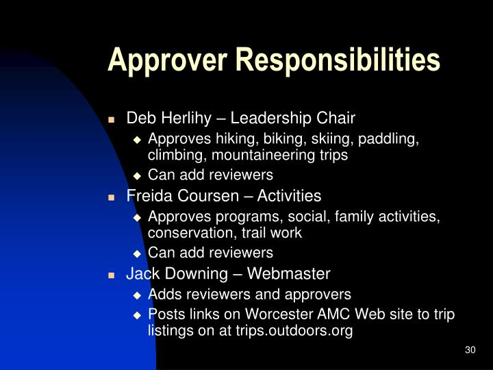 Approver Responsibilities