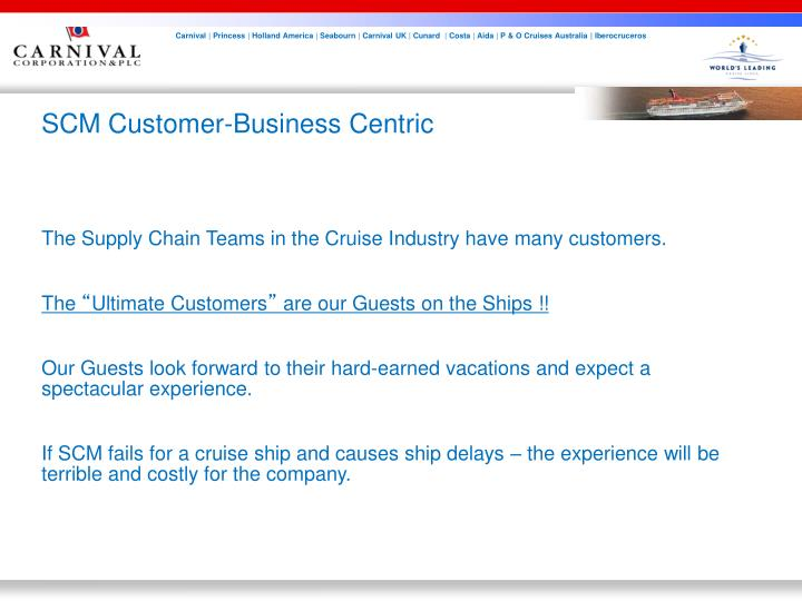 SCM Customer-Business Centric