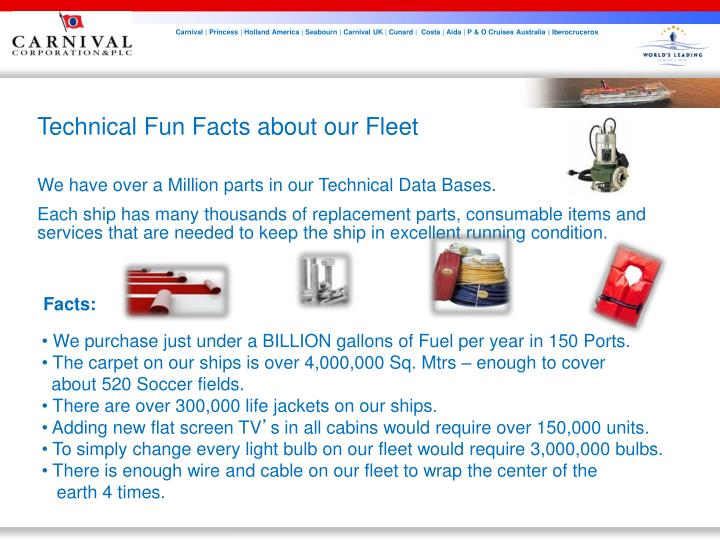 Technical Fun Facts about our Fleet