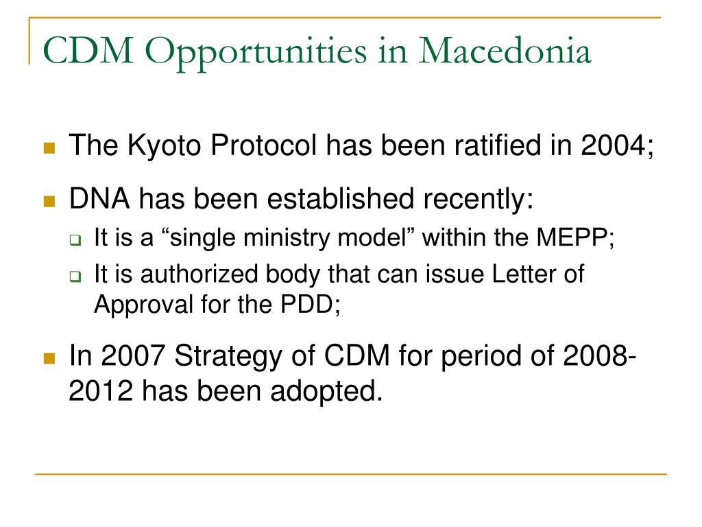 CDM Opportunities in Macedonia
