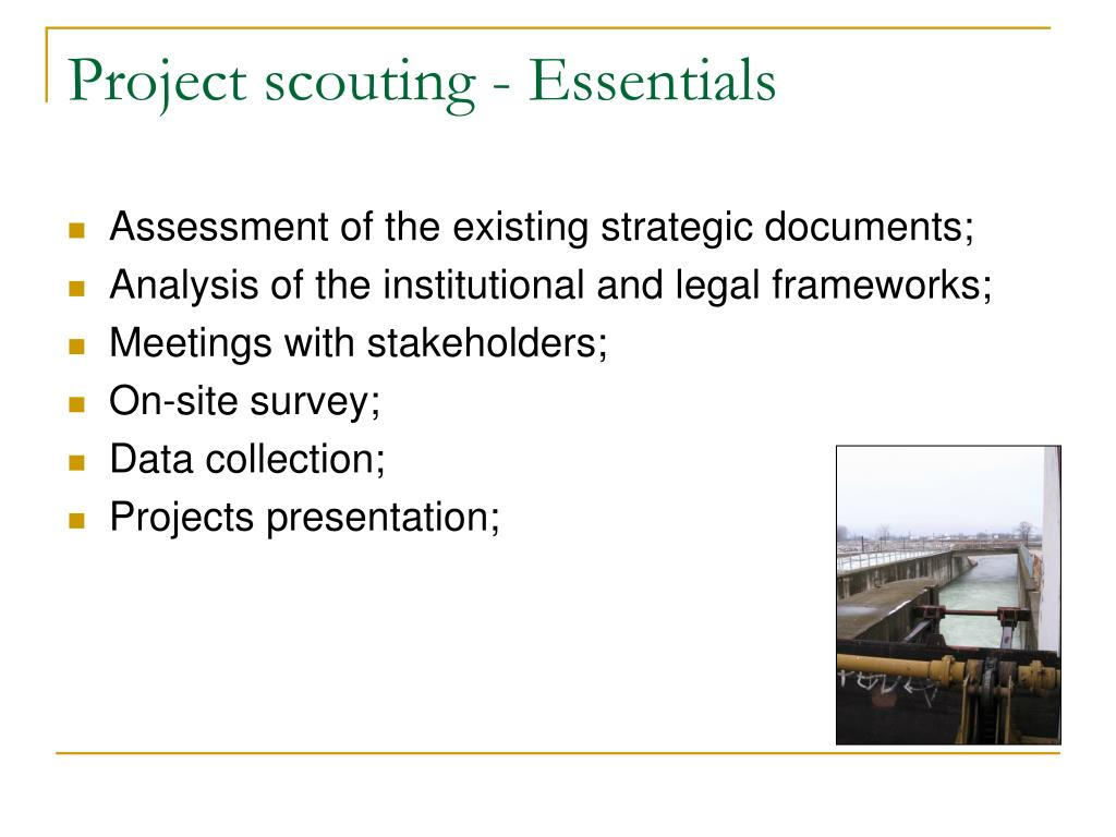 Project scouting - Essentials