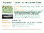 project title awms zito vardar veles