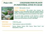 project title cogeneration plants in industrial zone in cacak