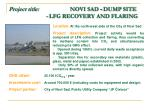 project title novi sad dump site lfg recovery and flaring