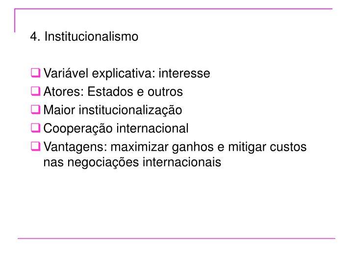 4. Institucionalismo
