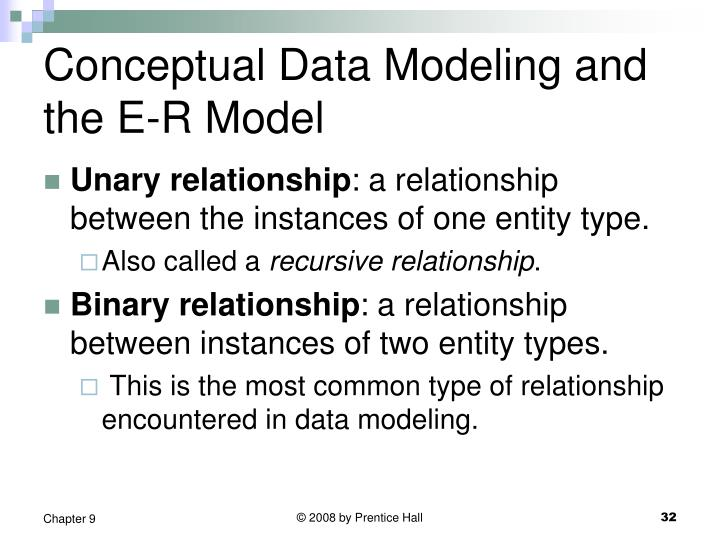 Conceptual Data Modeling and the E-R Model