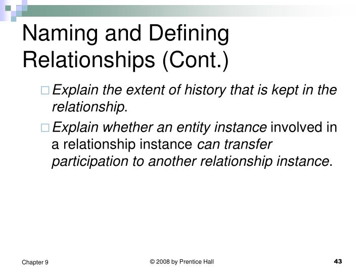 Naming and Defining Relationships (Cont.)