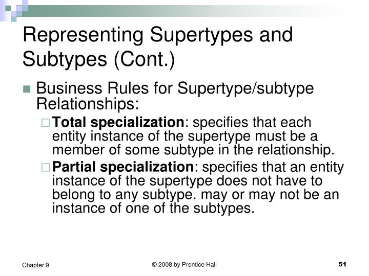 Representing Supertypes and Subtypes (Cont.)