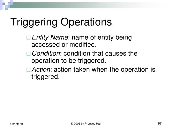 Triggering Operations