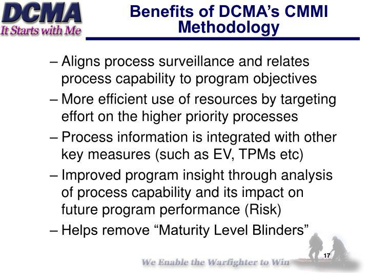Benefits of DCMA's CMMI Methodology