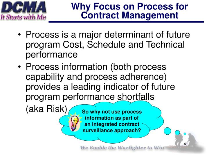 So why not use process information as part of an integrated contract surveillance approach?