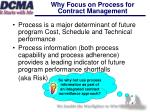 why focus on process for contract management