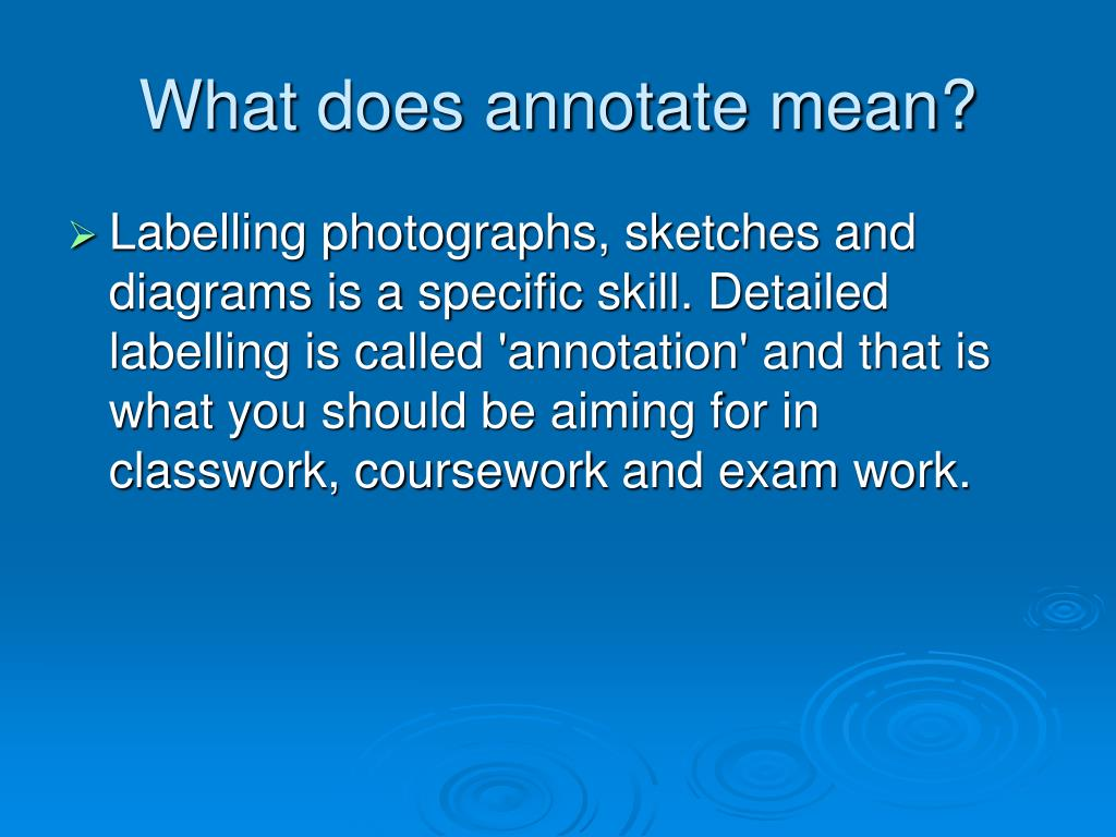What does annotate mean?