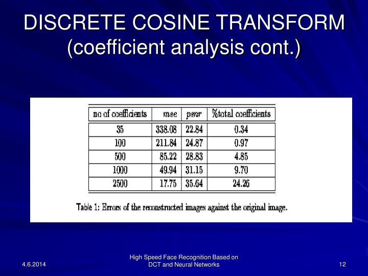 DISCRETE COSINE TRANSFORM