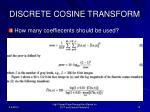 discrete cosine transform2