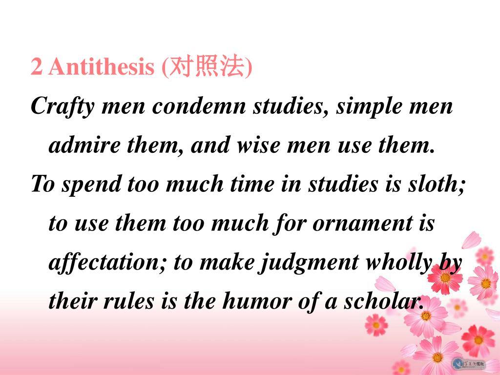 2 Antithesis (