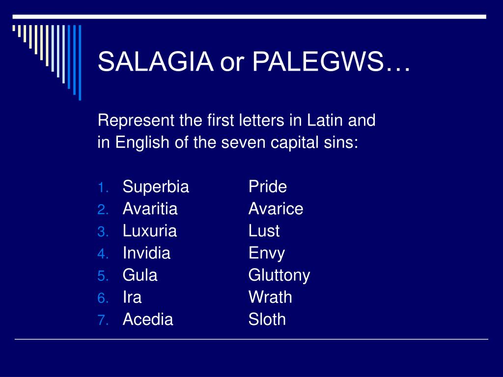 SALAGIA or PALEGWS…