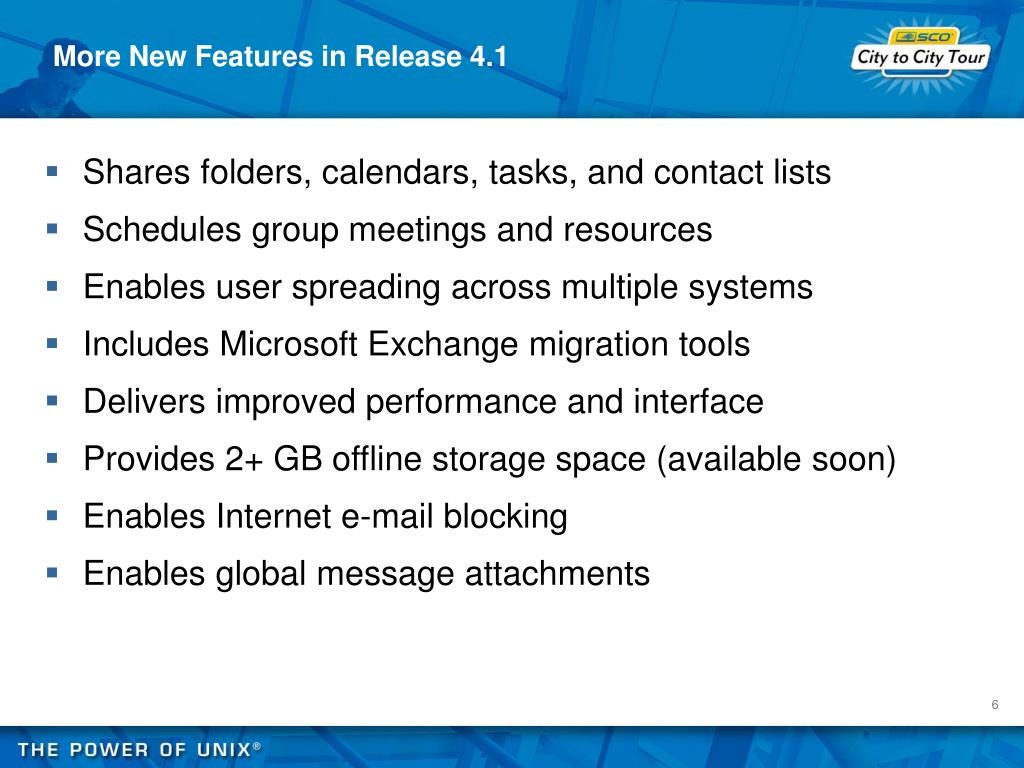 More New Features in Release 4.1
