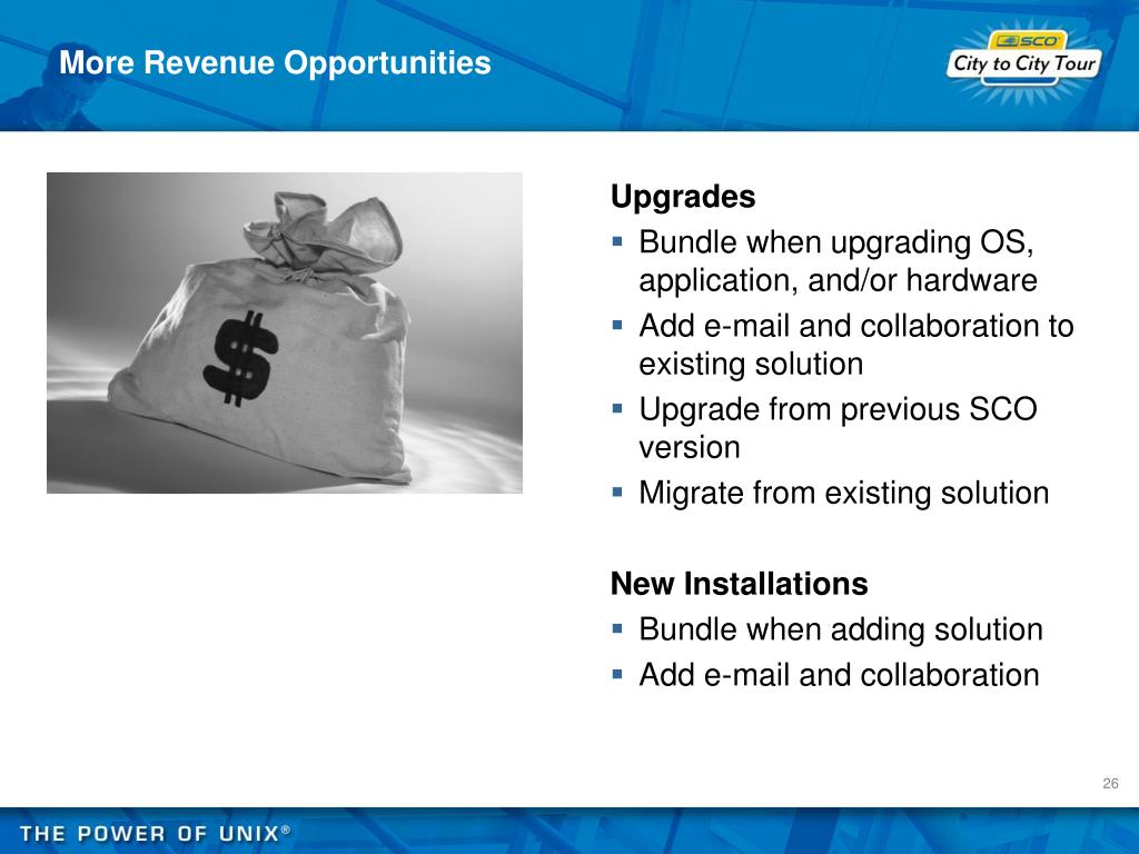 More Revenue Opportunities