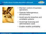 sco office server provides alternative to microsoft