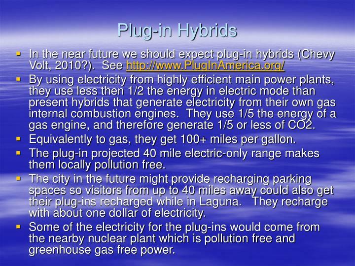 Plug-in Hybrids