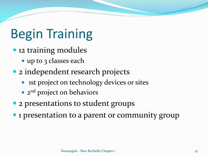 Begin Training