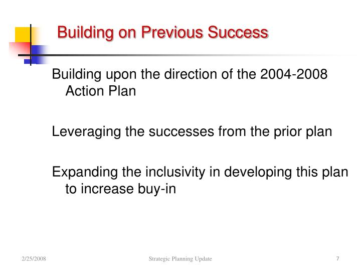 Building on Previous Success