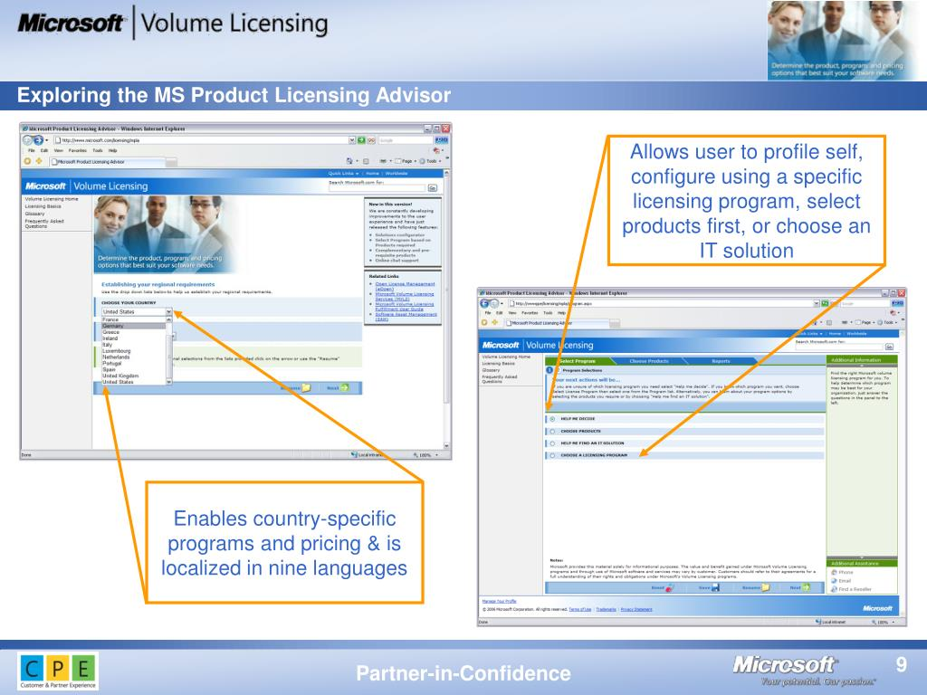 Exploring the MS Product Licensing Advisor