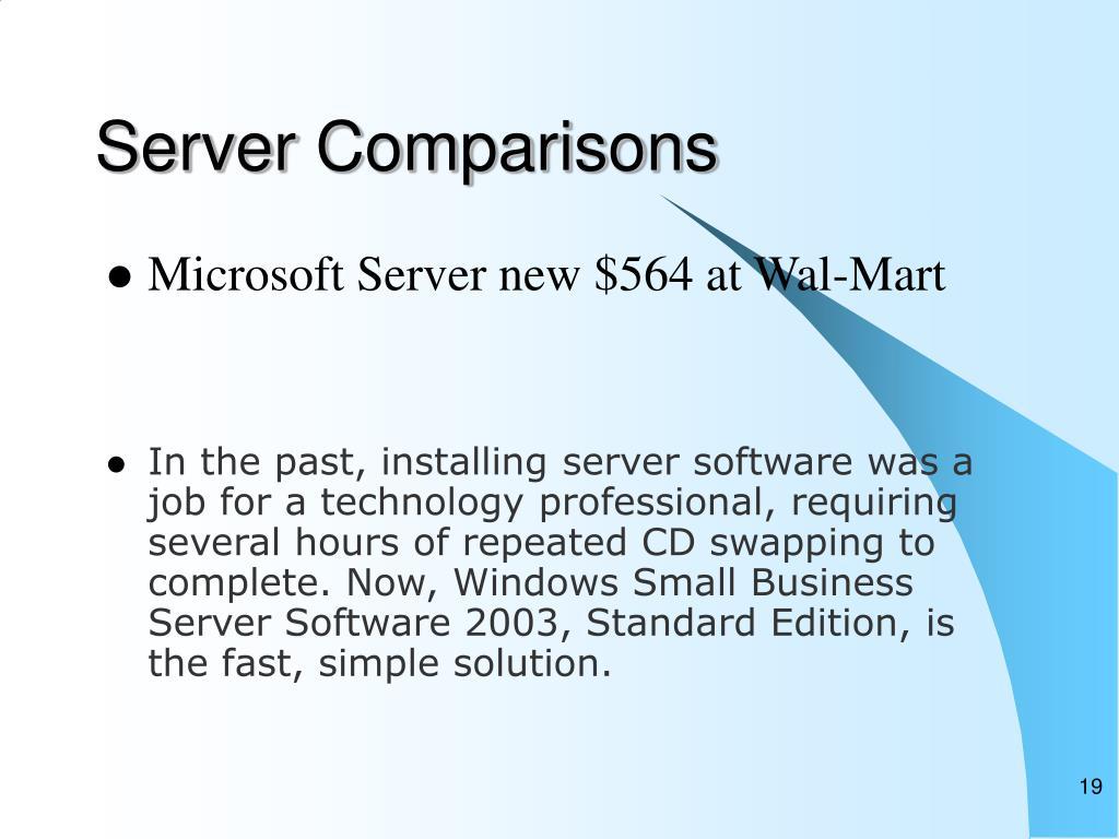 Server Comparisons