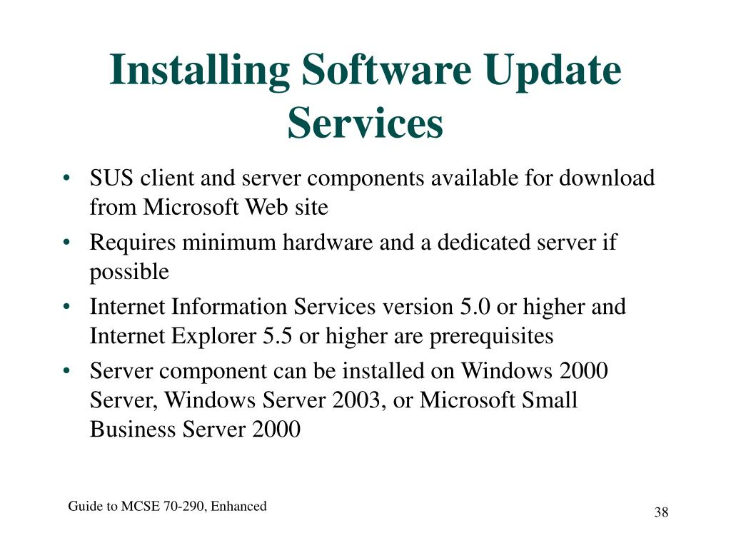 Installing Software Update Services