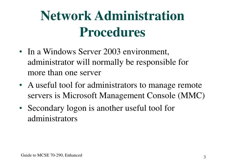 Network administration procedures l.jpg