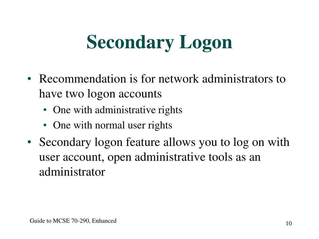 Secondary Logon