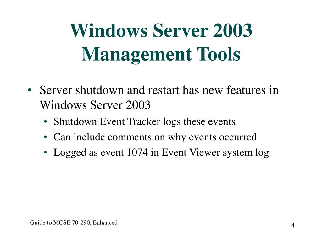 Windows Server 2003 Management Tools
