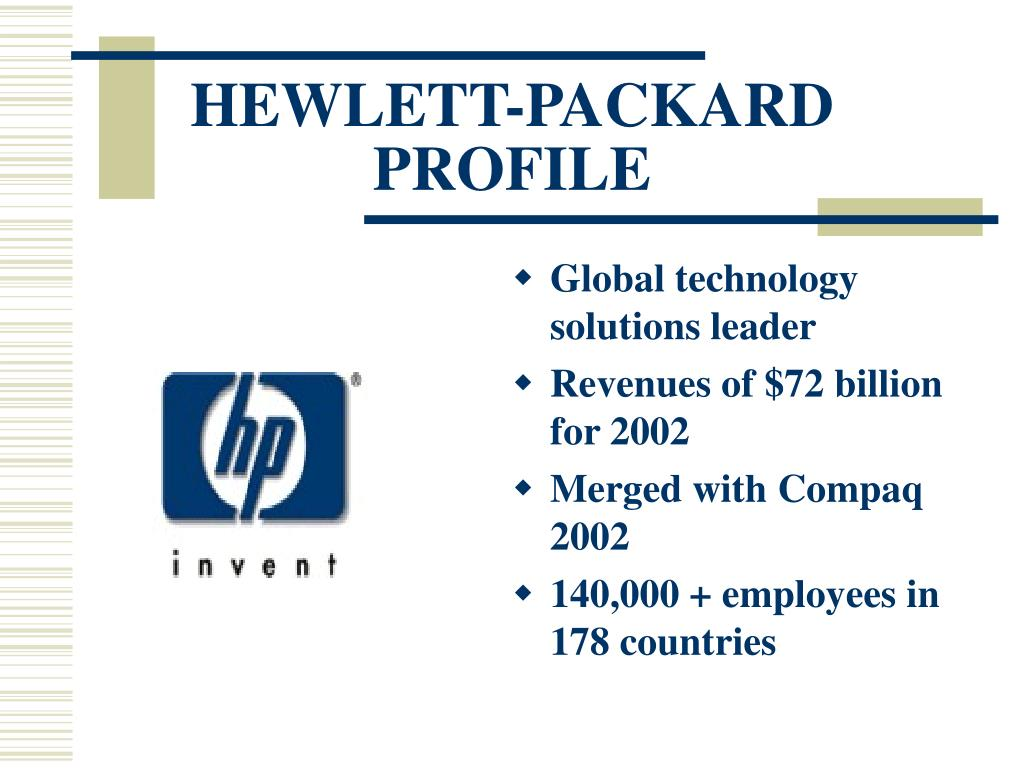 HEWLETT-PACKARD PROFILE