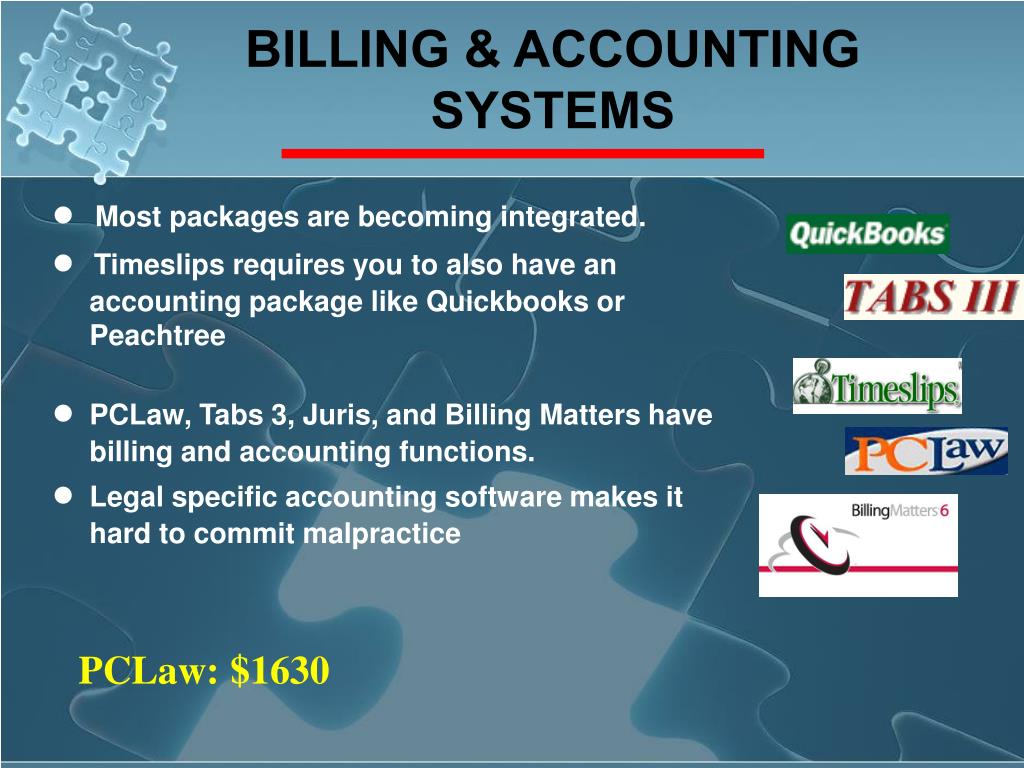 BILLING & ACCOUNTING SYSTEMS