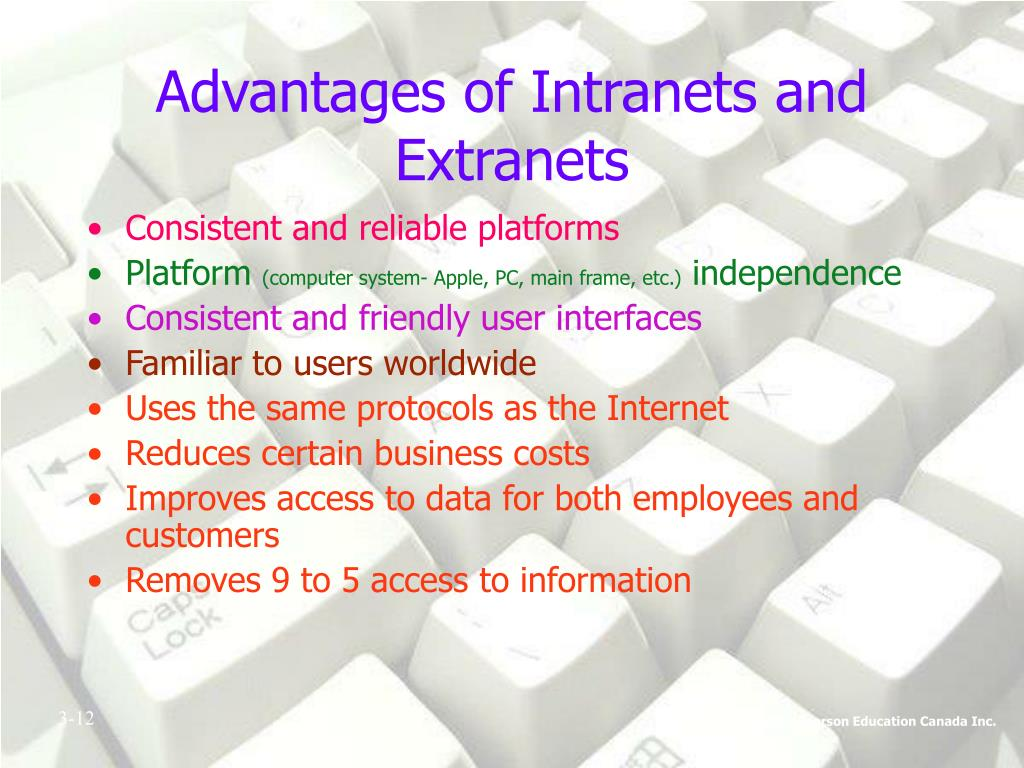 Advantages of Intranets and Extranets