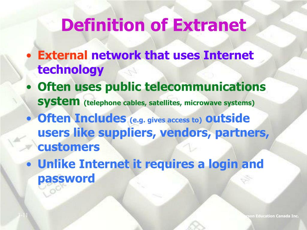 Definition of Extranet