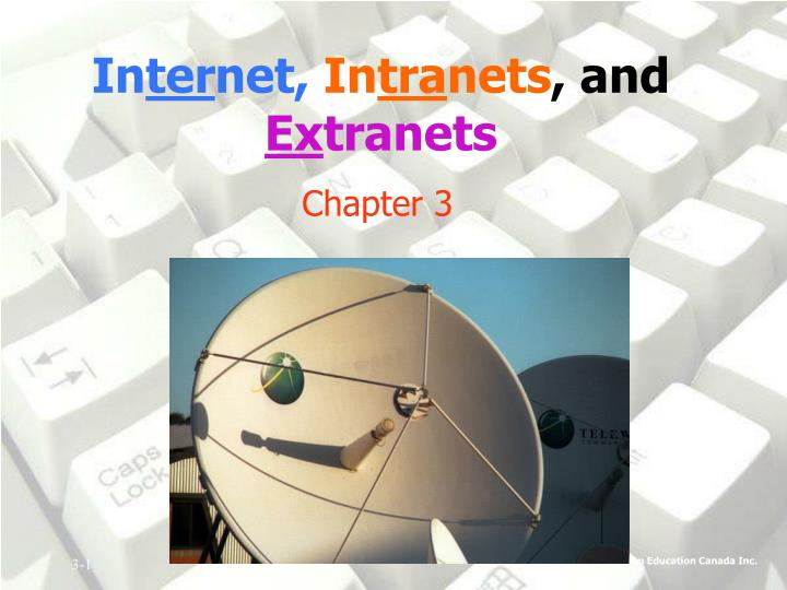 In ter net in tra nets and ex tranets